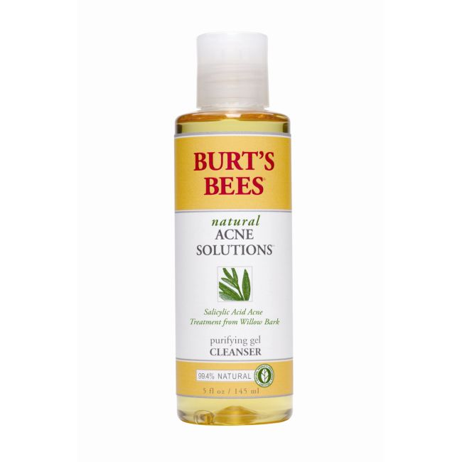 Burt's Bees Natural Acne Solutions Purifying Gel Cleanser | 5 fl oz Gel | Skin Care