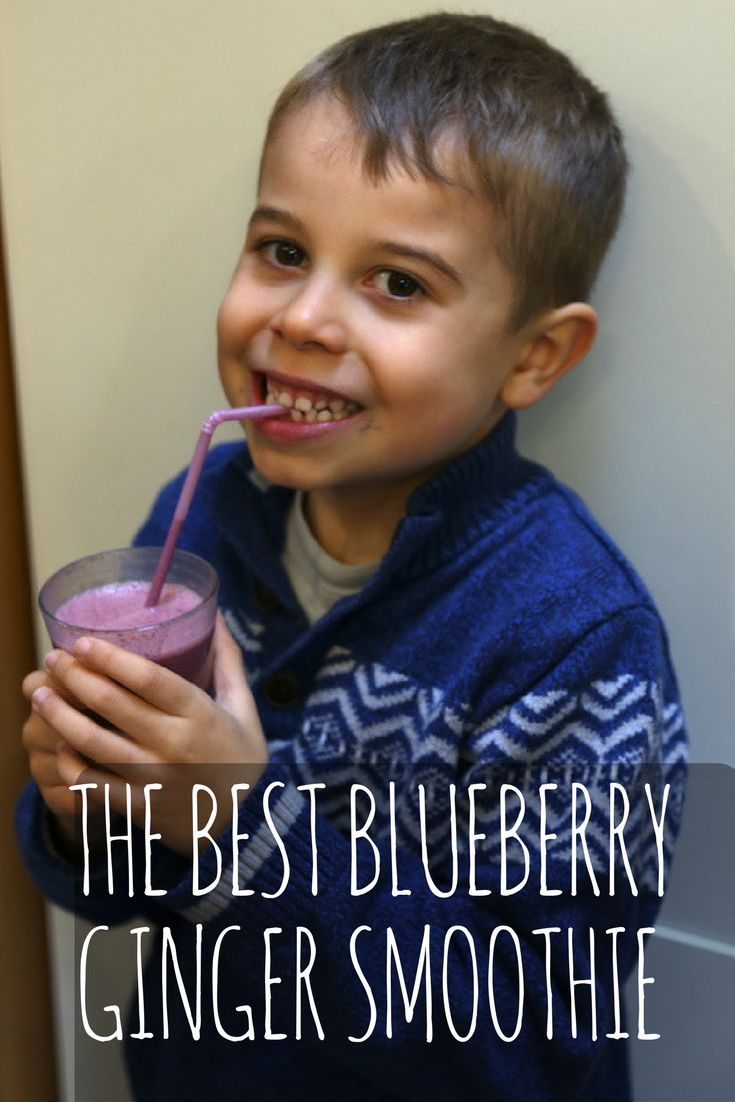 The best blueberry ginger smoothie recipe
