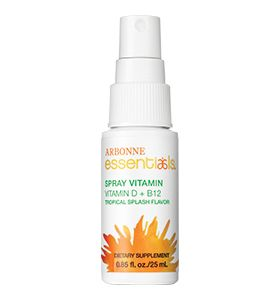 Essentials Spray Vitamin D+B12 - This unique spray supplement delivers efficacious levels of essential vitamins B12 and D to support energy, immunity, calcium absorption and more with a tasty Tropical Splash flavor.