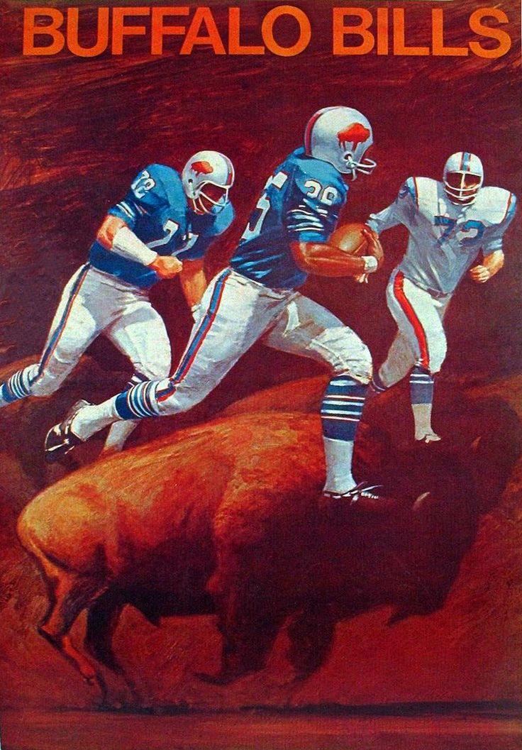 Buffalo Bills 1969 vintage poster