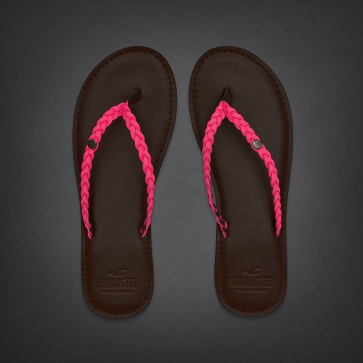 Bettys So Cal Pink Leather Flip Flops | #InHollister ...