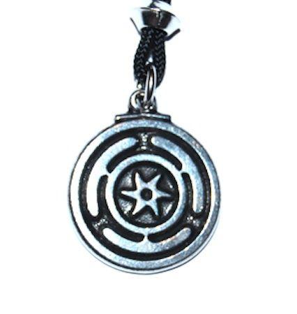 Wheel of Hecate Pendant – Celtic Pewter Jewellery