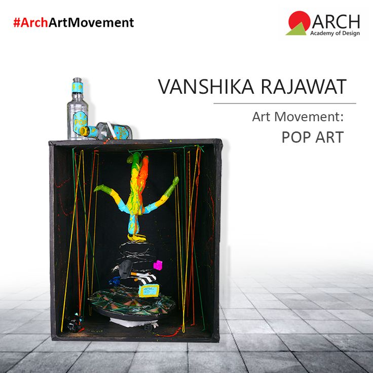 """My installation is a musical pop vision box in which you can see the rotating spiral on the vinyl, symbolizing the boom of media and music in the 60's, when Andy Warhol collaborated with many bands to create their album covers."" #ArchAcademyofDesign #ArchArtMovement #PopArt"