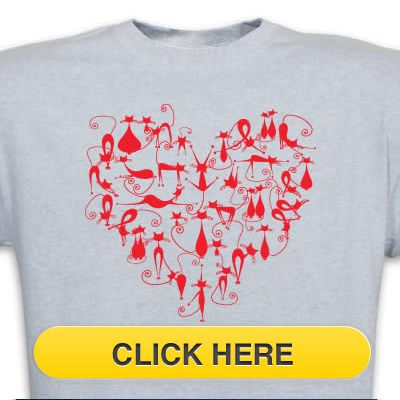 Check our Cat Love T-Shirt to celebrate you #pet #animal#cat love. Just $18.99 + an extra $5off Just Enter Coupon Code: SAVEMORE5 at checkout at http://www.petproductadvisor.com/store/mc/heart-full-of-love-tshirt.aspx