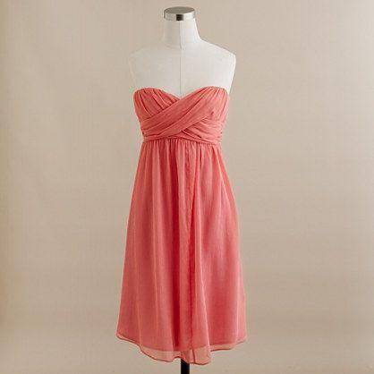 Coral Bridesmaid Dress: Bridesmaids, Coral Dress, Style, Color, J Crew, Jcrew, Coral Bridesmaid Dresses, Chiffon Dresses, Cute Bridesmaid Dresses