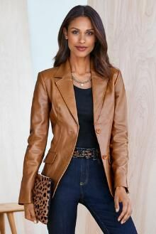 Genuine Leather Blazer | Chadwicks of Boston