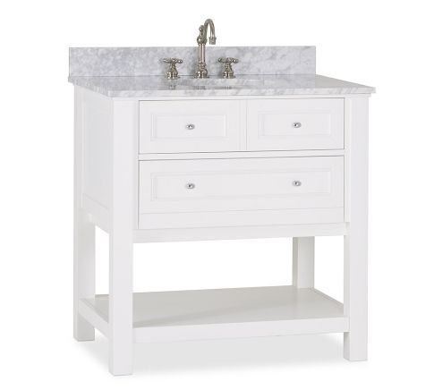 Classic Single Sink Console - White Pottery Barn
