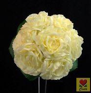 CREAM WHITE SILK ROSE WEDDING BOUQUET  ARTIFICIAL POSY FLOWERS cintahomedeco