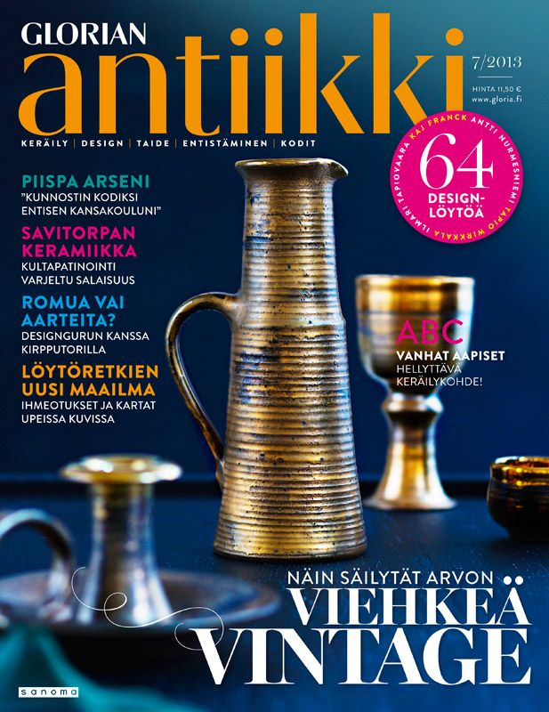 Magazine cover 7/2013. Savitorppa pottery. Photo Piia Arnould.