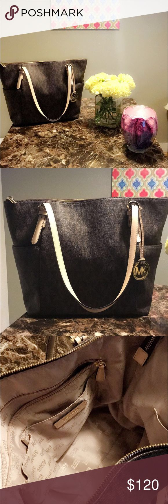 Michael Kors Jet Set Logo Tote Gently used, authentic, Michael Kors Jet Set Logo Tote Michael Kors Bags Totes