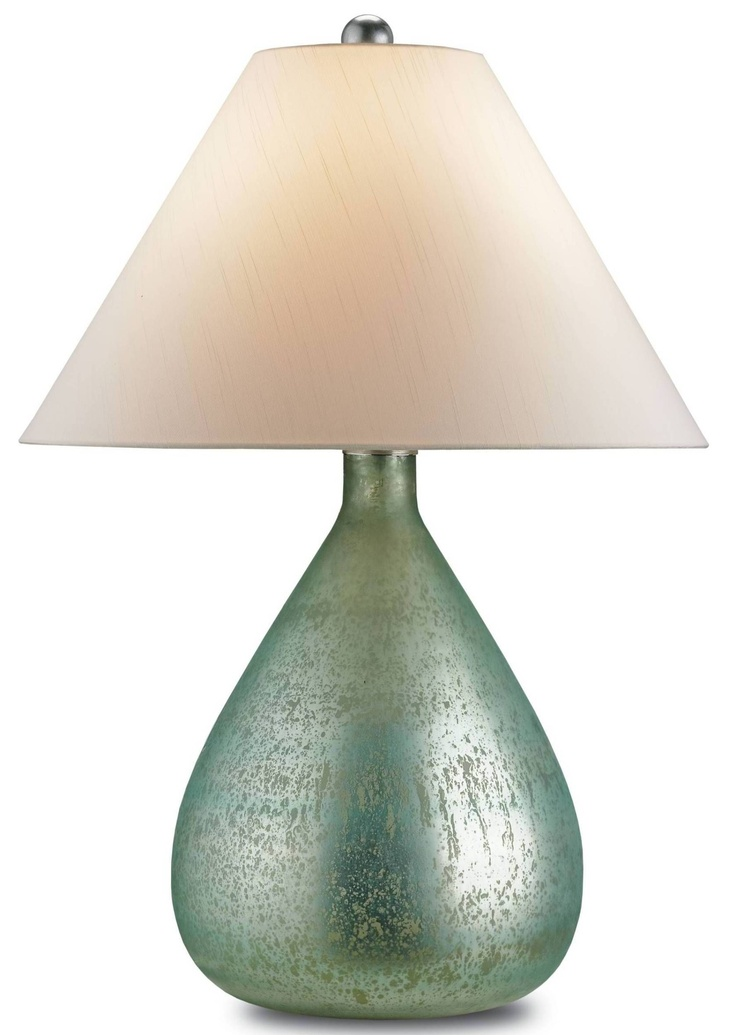 The Helene Table Lamp From Currey And Company Features Mercury Glass And  Gets A Makeover As A Sea Blue Finish Which Offers A Unique And  Sophisticated Look.
