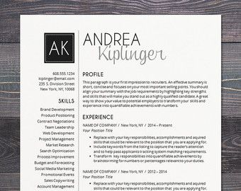 Resume Template   CV Template, Word For Mac Or PC, Professional, Cover  Letter