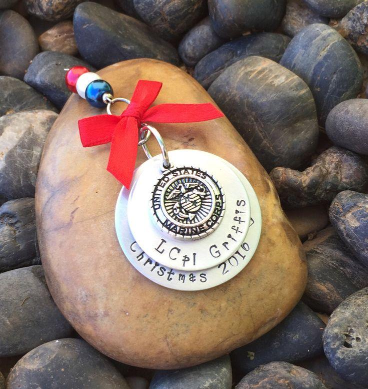 Marine Corps Christmas Ornament | Military Christmas Ornament | Marine Corps Boot Camp Graduation Gift | Marine Corps Retirement Gift | USMC by SecretHillStudio on Etsy https://www.etsy.com/listing/289894609/marine-corps-christmas-ornament-military