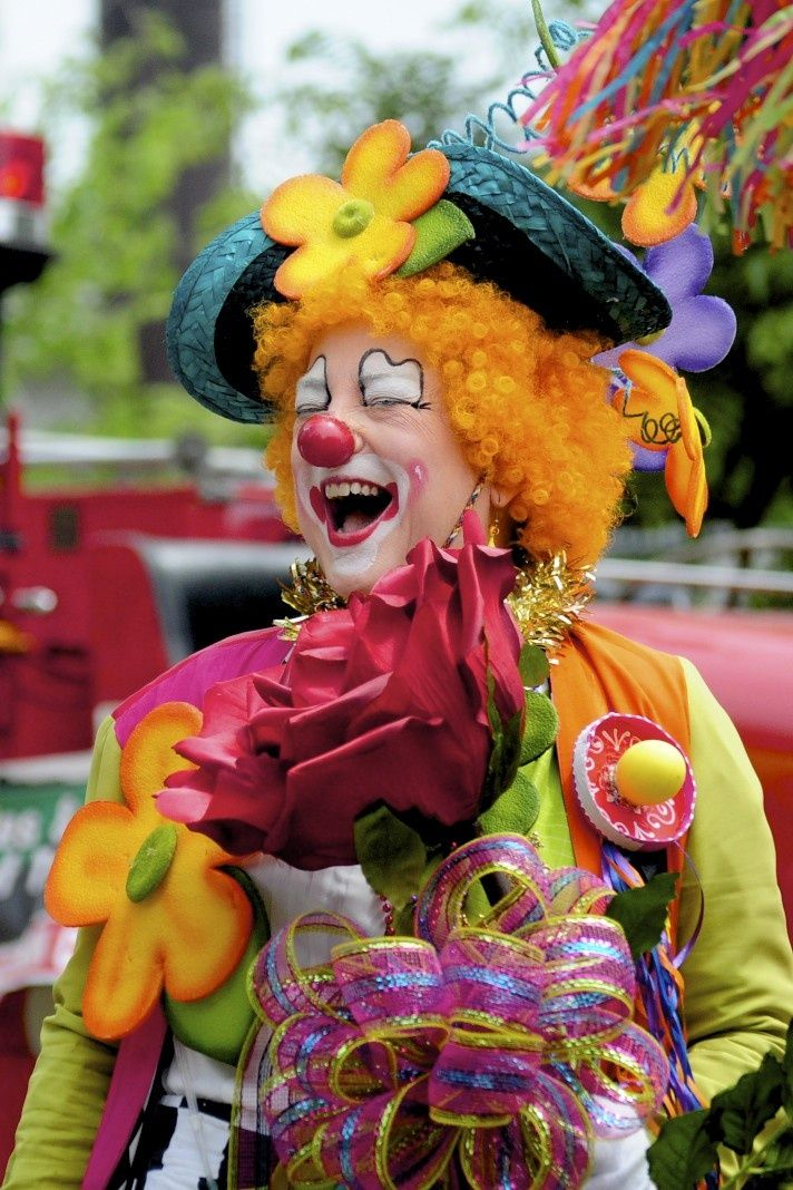 Female rodeo clown