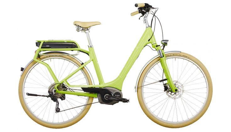 Cube Elly Ride Hybrid 400 - Vélos de ville électriques Femme - Easy Entry vert