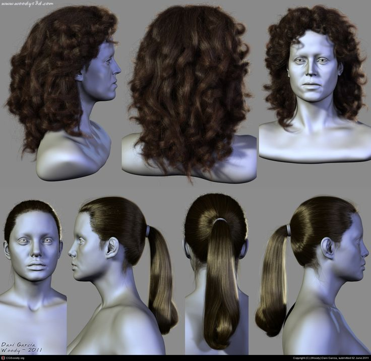 7 Hairstyles (2) by (Woody) Dani Garcia | 3D | CGSociety