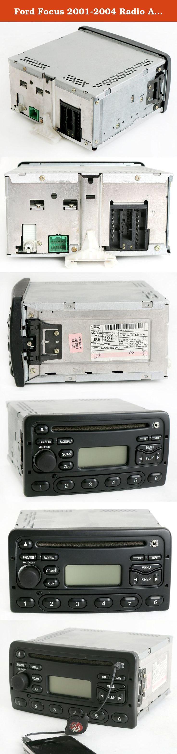 Ford focus 2001 2004 radio am fm cd player upgraded w aux input ys4f