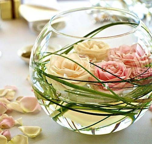 Floating Flower Centerpieces Photo                                                                                                                                                                                 More