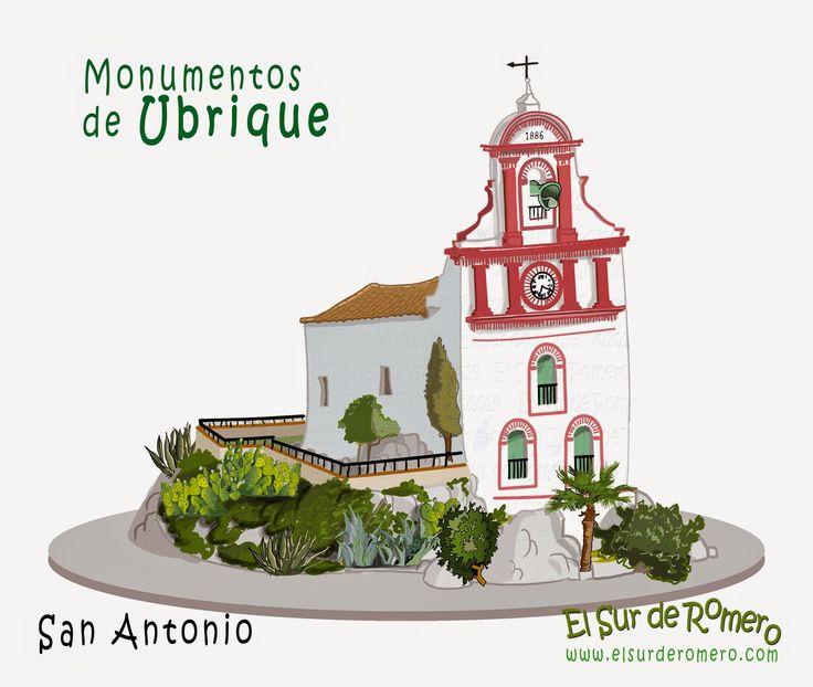 Monumentos de Ubrique en dibujo, Ermita de San Antonio.
