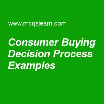 Consumer Buying Decision Process Examples