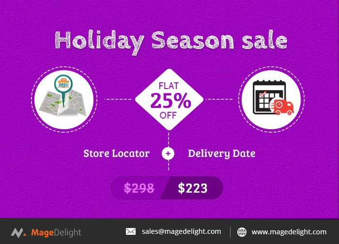 With best results and adaptive user interface, #Magento2 #StoreLocatorextension helps your customers find your physical stores on Google map with various search criteria.   In the hustle of preparing for various festivities, what would be more helpful if you've given the choice of selecting the delivery date on your convenience? Yes, the #DeliveryDateextension is developed to allow customers choose the date and time according to their availability.   The combination of these two extension…