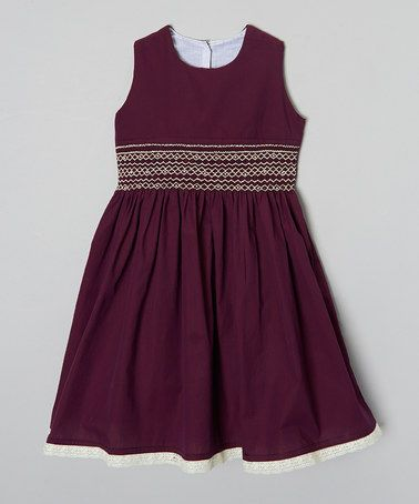 Look what I found on #zulily! Maroon & Navy Night Out Dress - Infant, Toddler & Girls by Hartland Sisters #zulilyfinds