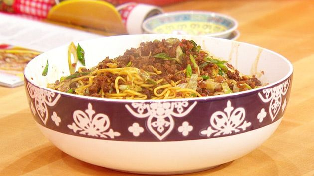 Tingly Szechuan Pepper Beef Noodles - Rachel Ray's recipe. Has step by