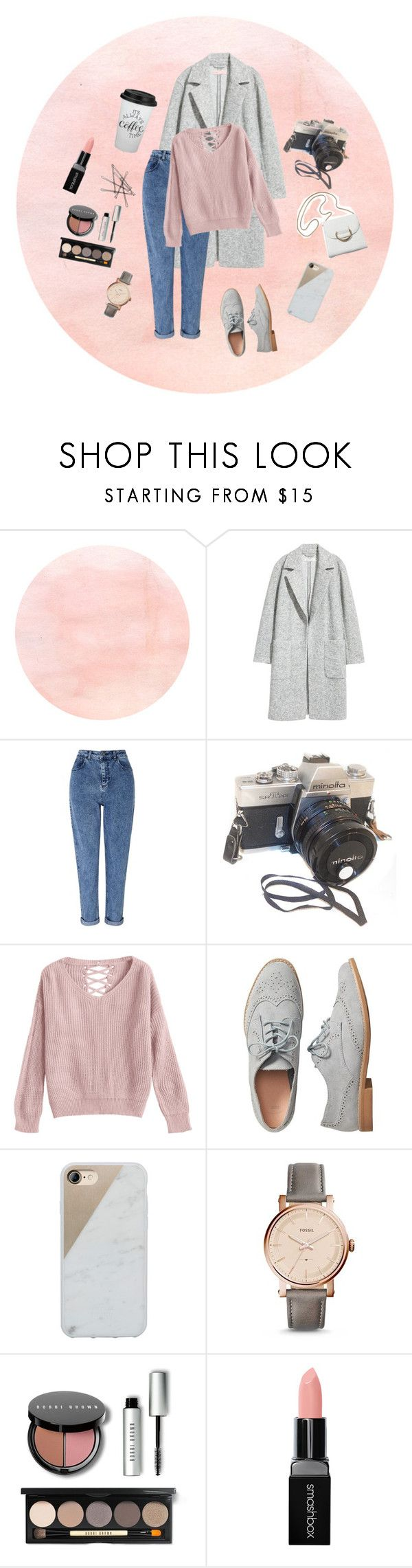 """Untitled #66"" by dilya-300542 ❤ liked on Polyvore featuring H&M, Miss Selfridge, Gap, Native Union, FOSSIL, Bobbi Brown Cosmetics and Smashbox"
