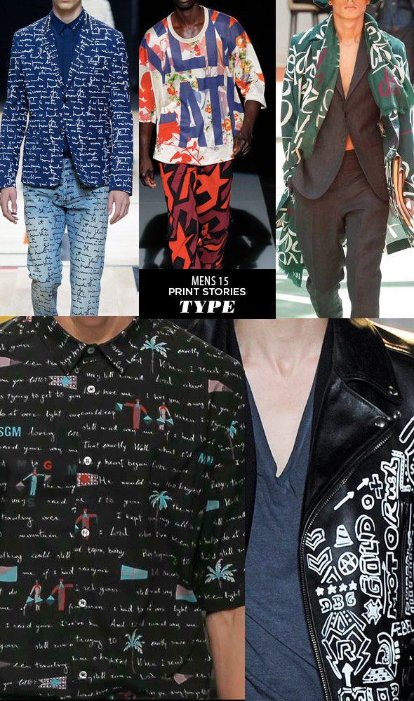 Runway | Spring 15 Mens Print Stories | Type