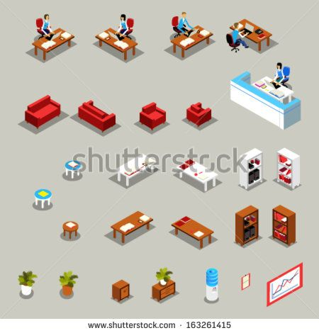 stock-vector-icon-set-of-isometric-office-furniture-and-business-working-people-receptionist-at-the-desk-163261415.jpg (450×470)