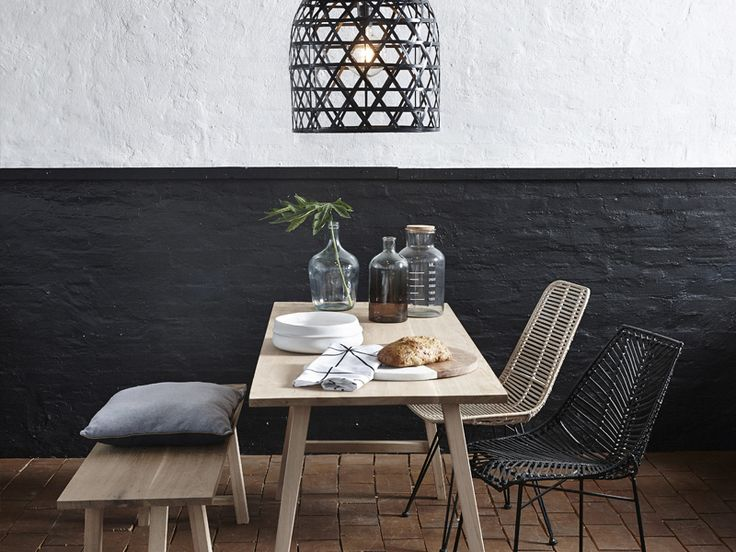 #home #decor #decord #inspiration #design #scandinavian #dining #table #chairs #bench #wood
