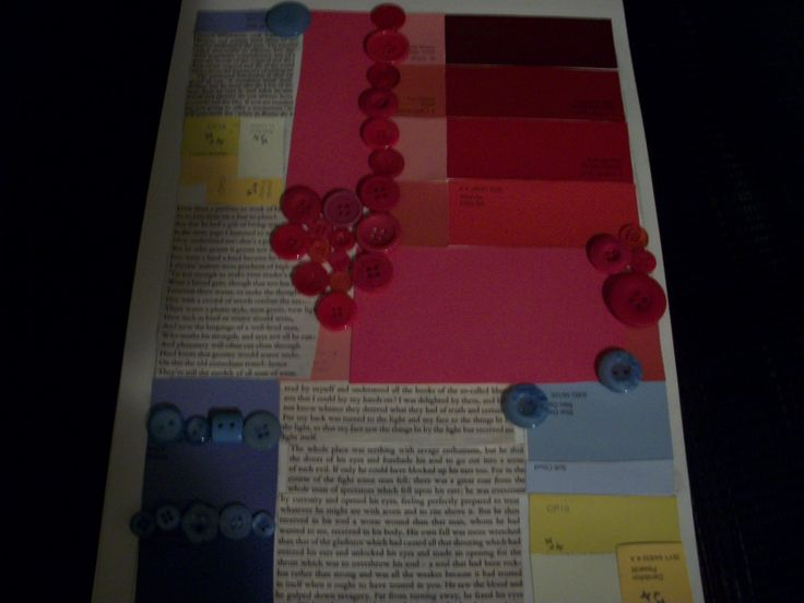 mondrian inspired collage