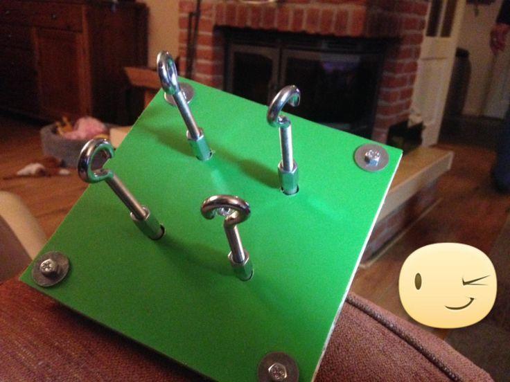 Door Petra Arts; gebruik gemaakt van de handleiding van de mochila look a like - ply split koordmaker