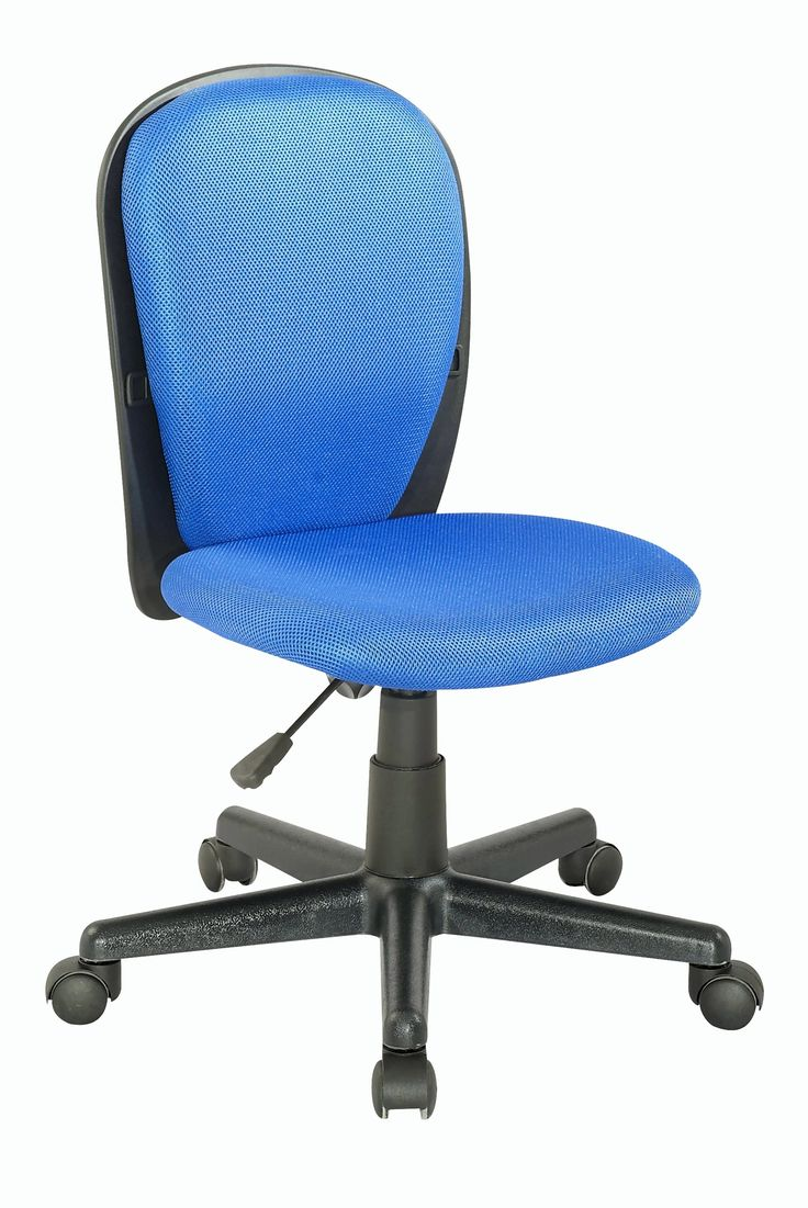 Chintaly 4245-CCH-BLU Fabric Back and Seat Youth Desk Chair