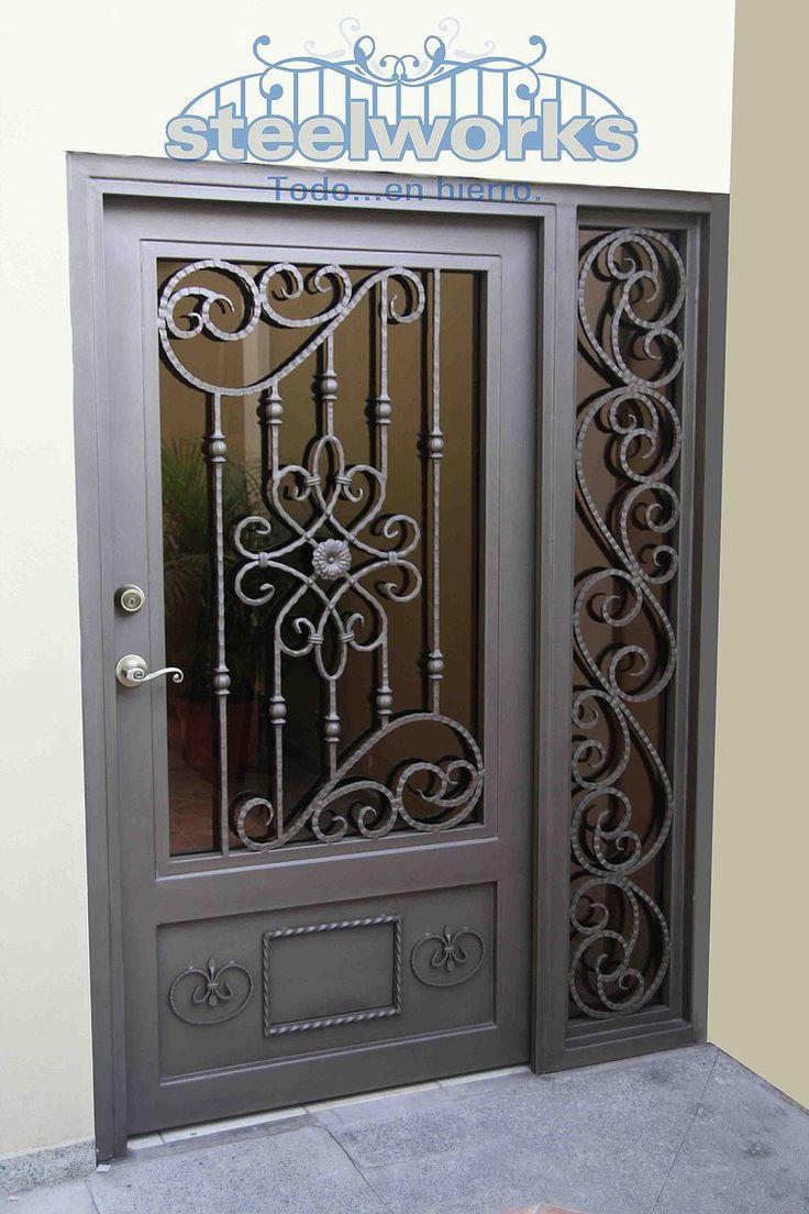 M s de 25 ideas incre bles sobre puertas principales en for Puertas principales de hierro para casas