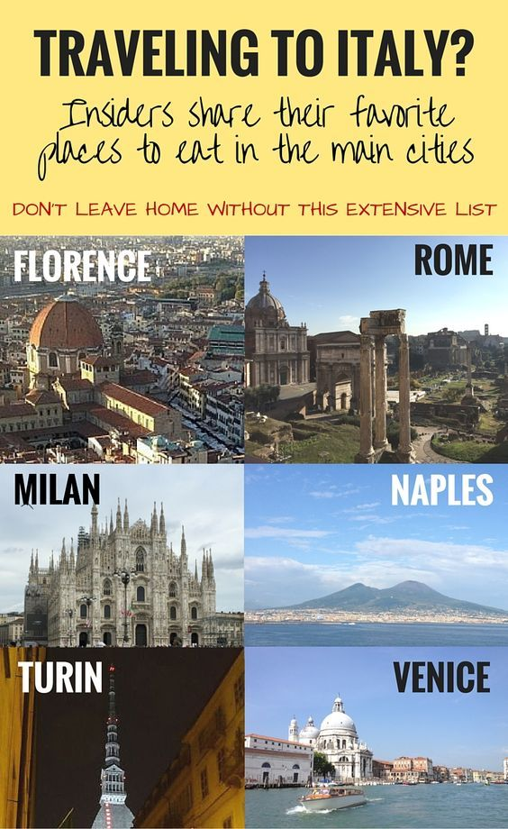 Traveling to Italy? An Extensive List of Places to Eat in the Rome, Florence, Milan, Naples, Turin, Venice and more   BrowsingItaly.com