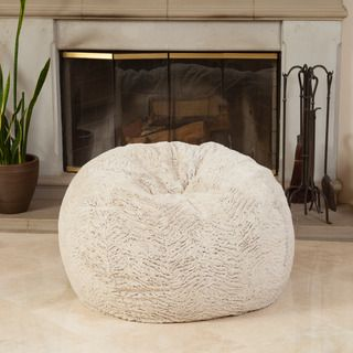 Christopher Knight Home Paige 3-foot Shag Fur Beanbag | Overstock™ Shopping - Big Discounts on Christopher Knight Home Bean & Lounge Bags