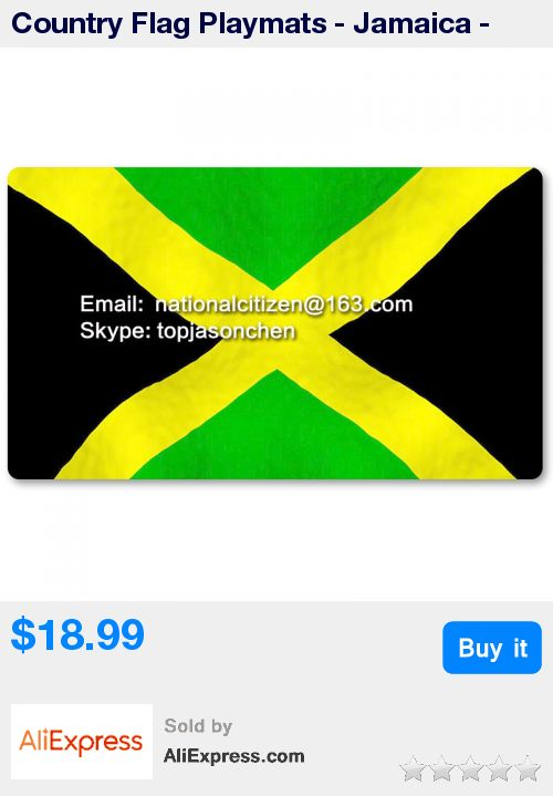 Country Flag Playmats - Jamaica - Board Game Mat Table Mat Mouse Mat Mouse Pad 60 x 35CM * Pub Date: 17:12 Sep 10 2017