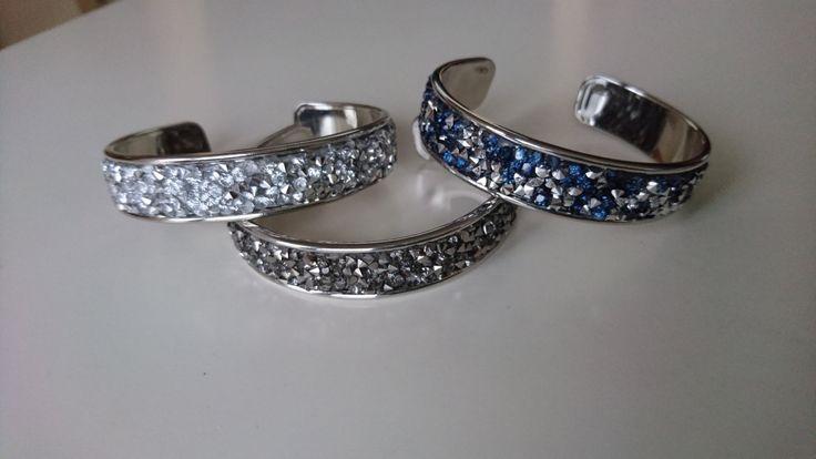 Metalen armband met kristal diamant glitter/Festival bandje/Gypsy boho bohemian beach stackable inspired bracelet door Suusjabeads op Etsy