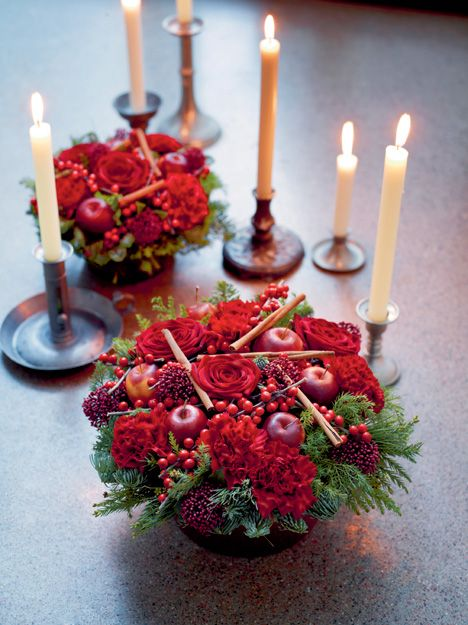 christmas flowers, like the cinnamon quills