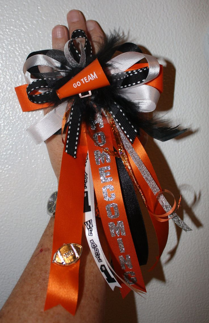 @Reagan Haley Haley Robertson  something like this might be cute for the cheerleaders! we could make these!!  Homecoming Finger Mum. $10.00, via Etsy.