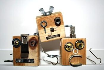 robots using old hardware. The boys would love this.