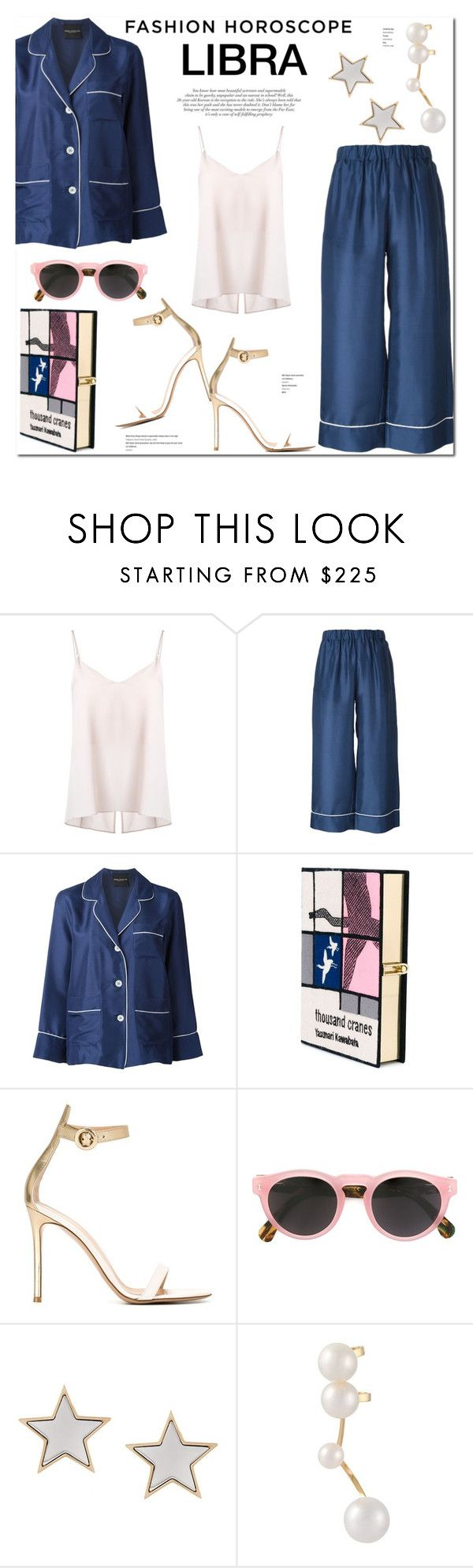 """Fashion Horoscope: Libra"" by stellaasteria ❤ liked on Polyvore featuring Ginger & Smart, Erika Cavallini Semi-Couture, Olympia Le-Tan, Gianvito Rossi, Illesteva, Givenchy and Delfina Delettrez"