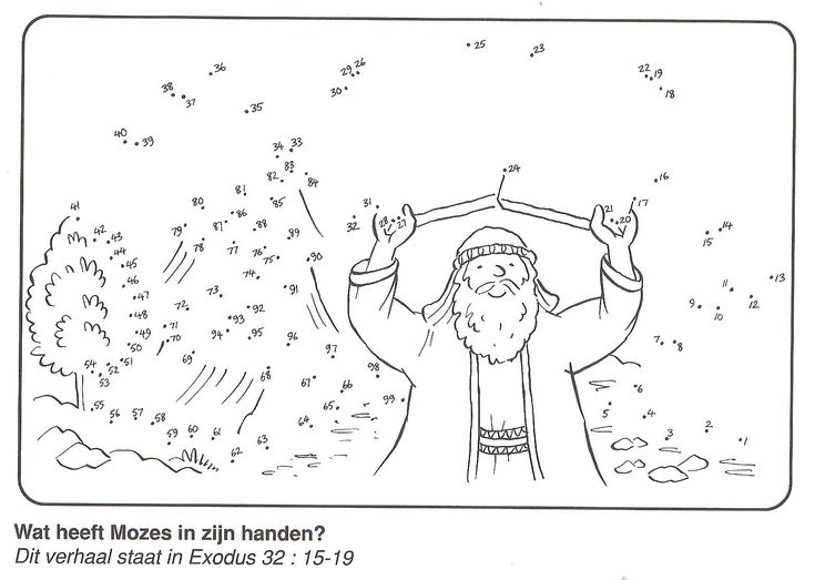 Moses and the Ten Commandments Dot to Dot