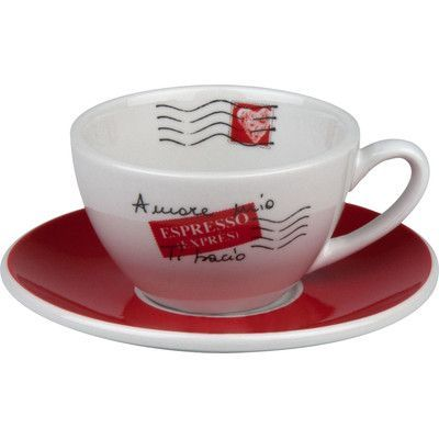 Konitz Coffee Bar Amore Mio 3 oz. Cafe Creme Cup and Saucer