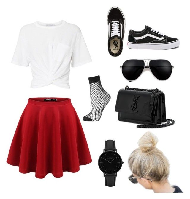 """""""A summer day"""" by rozewinner on Polyvore featuring T By Alexander Wang, Vans, Yves Saint Laurent, CLUSE and Topshop"""
