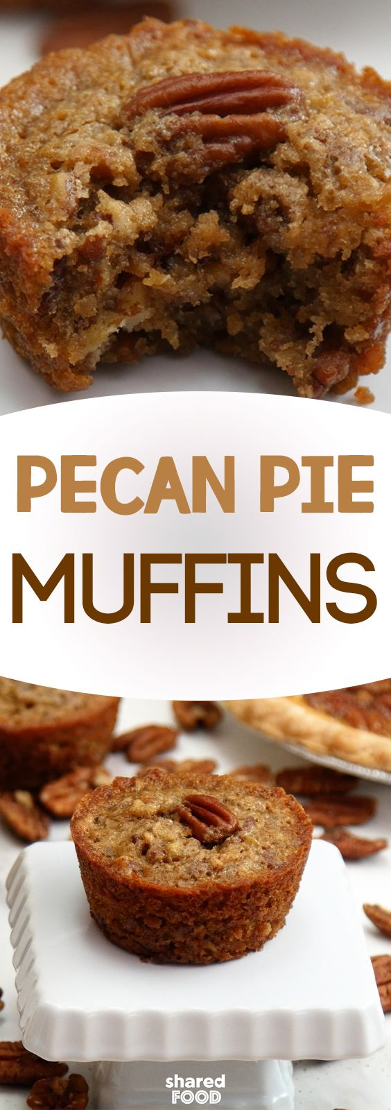 Move over pecan pie, a new king is in town! These Pecan Pie Muffins taste exactly like pie, but they're in deliciously convenient muffin-form! These moist muffins encompass everything you love about pecan pie and more - they make the perfect fall breakfast, snack, or dessert (with some ice cream on the side!). What are you waiting for? Bake up a batch of these easy muffins!