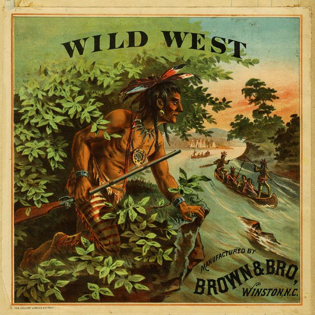19th Century Tobacco Label Wild West Brown Amp Bro Winston