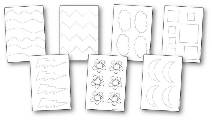 Modèles à imprimer pour l'atelier découpage