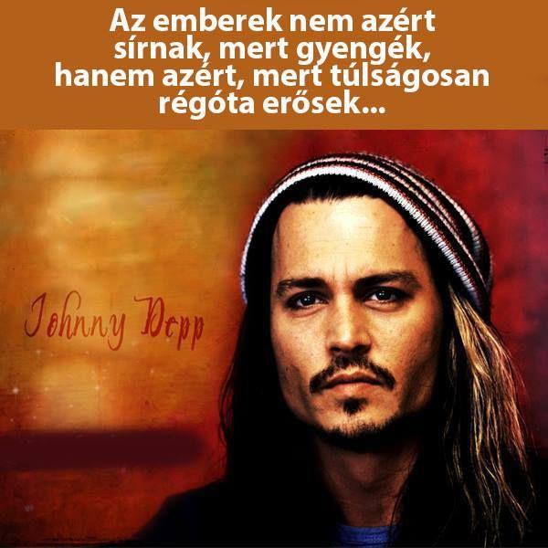 Johnny Depp idézete a sírásról. A kép forrása: dr. Tihanyi László # Facebook